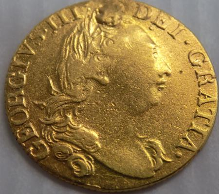 1785 George III - full Guinea gold coin - weight 8.2 grams