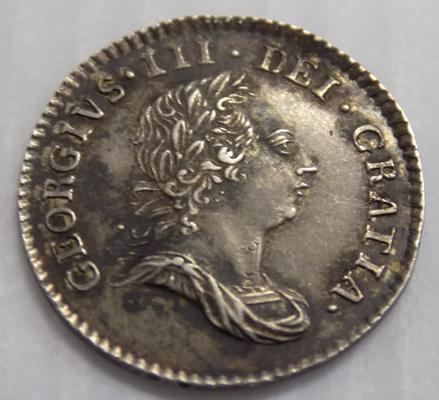 George III, 1784 silver four pence coin