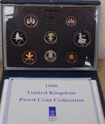 UK 1990 proof coin collection