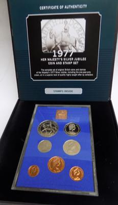 Her Majesty's Silver Jubilee coin & stamp set 1977