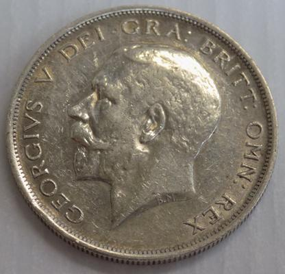 1918 George V - half crown silver coin