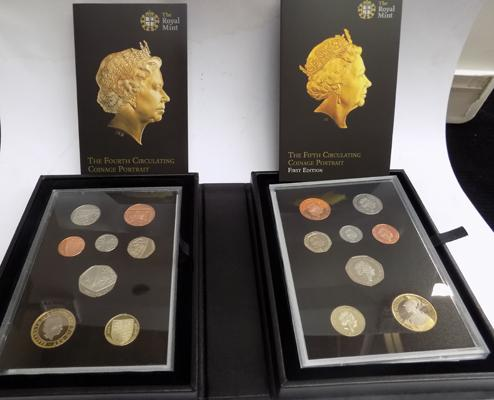 The Royal Mint First Edition & Last Edition portrait coinage sets