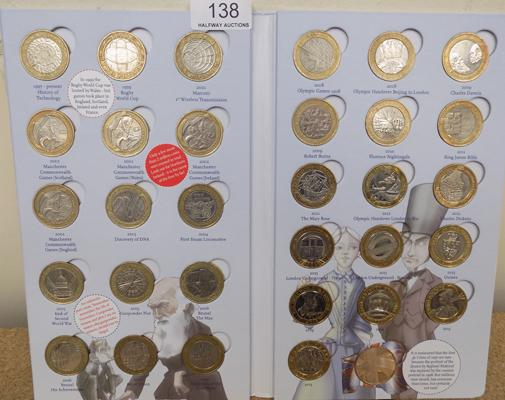 Great British coin hunt folder + 29x £2 coins inc 4 Commonwealth coins
