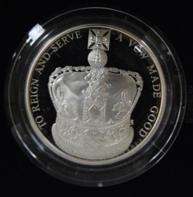 60th Anniversary Queens Coronation UK silver proof coin £5 coin