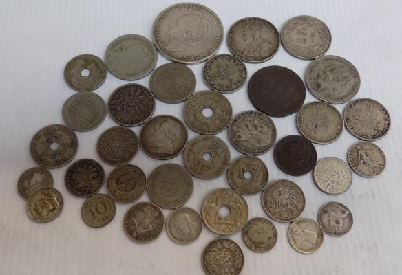 Collection of all World coins, incl. silver & antique examples