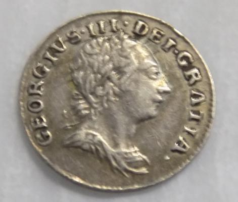 George III - late 1700's, silver one pence coin (Maundy)