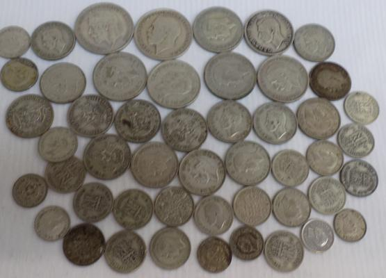 Collection of mixed British coins, various denominations & dates