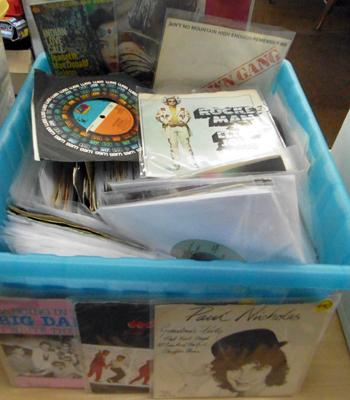 "Various 7"" singles 70's & 80's"
