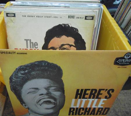 Box of LPs, Rock & Roll