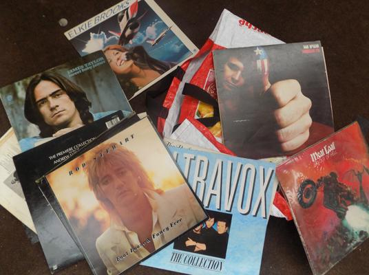 Box of albums, incl. Jarvis, Taylor, Rod Stewart, Meatloaf & Don McLean