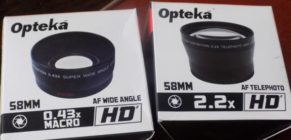 Two new Opteka camera lenses