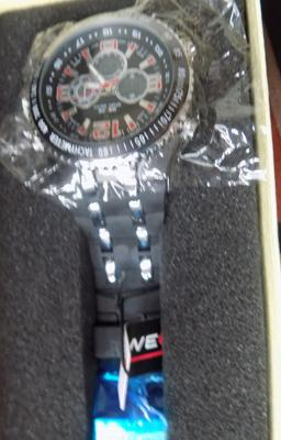 New Weide watch, large face, red numbers