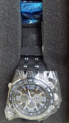 New Weide watch, large face, blue numbers