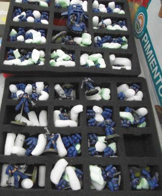 Selection of War Hammer space marines