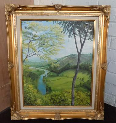 Oil on canvas, artist T. D. Brown, signed