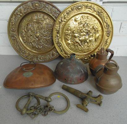 Selection of copper & Indian brass items