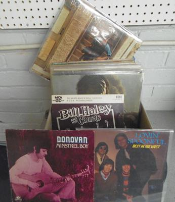 Over 50 records, 1960's/70's, incl. Hendrix, Wings, Lennon, Dylan, Donovan, Lovin  Spoonful