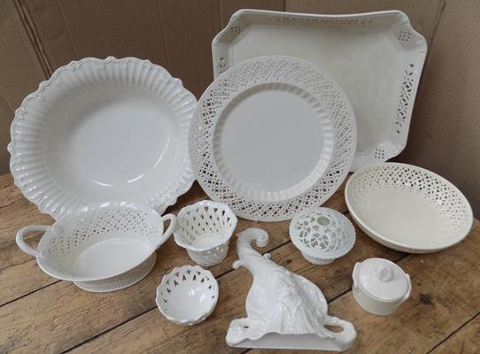 Selection of Leeds Pottery ware + mixed cream ware