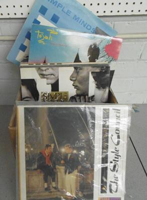 Over 60 records, 1980's/90's, incl. Style Council, Simple Minds, Sting, Police, House Martins