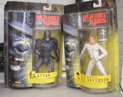 Two 'Planet of the Apes' action figures