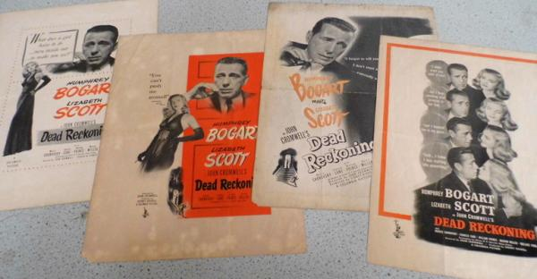 Humphrey Bogart film posters, (US), x 4 - double sided
