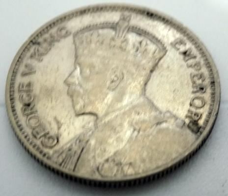 1933 New Zealand,  1 Shilling coin