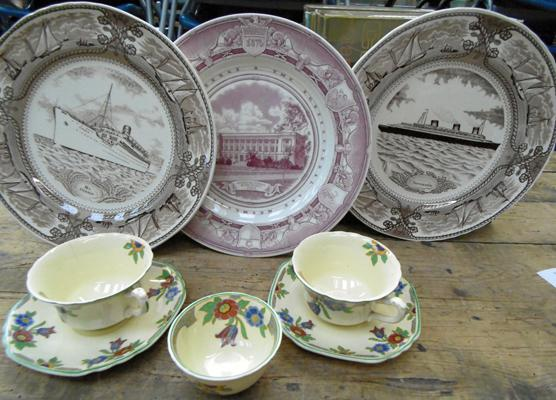 Mixed collectables inc Wedgwood & Masons liner ship plates