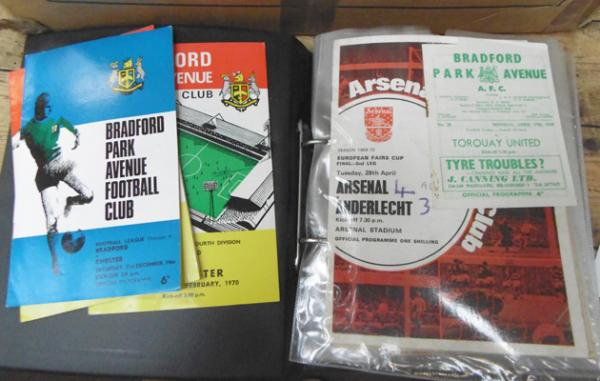 Folder of over 60 old football programmes 1950's-70's inc BPA