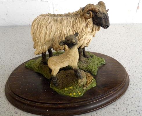 Country artists 'Ewe & her lamb' by artist Richard Cooper-no damage