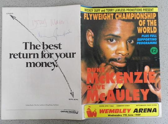 Boxing Programme signed by Harry Carpenter, Gary Mason