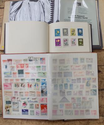 3x Albums of stamps, China etc