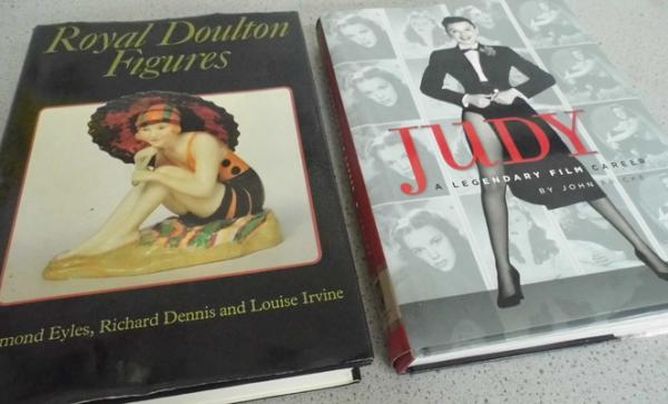 2x Vintage hardback books-'Judy' by John Fricke, & Royal Doulton figures by Eyles-all published works