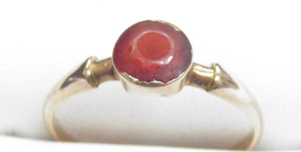 9ct Gold ruby solitaire ring size P
