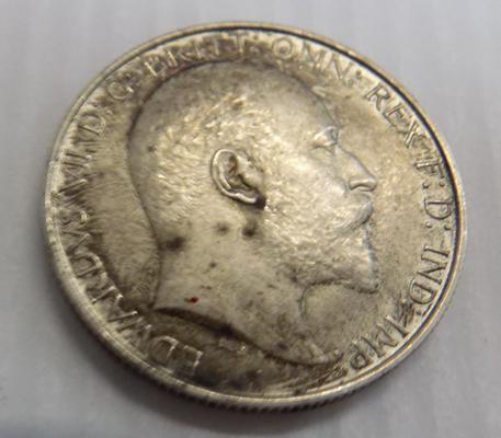 1902 Edward VII, one Florin two Shilling silver coin