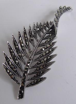 Sterling silver marcasite brooch
