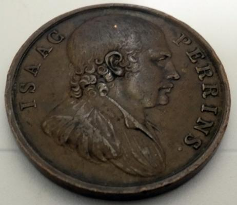 1789 Isaac Perrins 1d token (bare knuckle boxer)