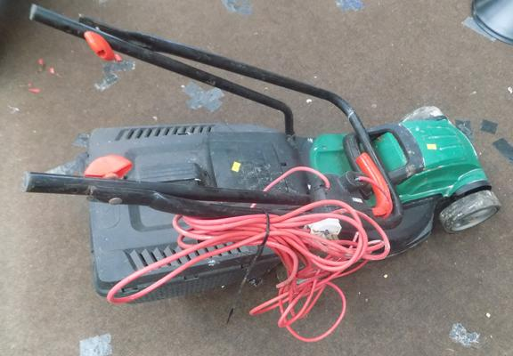 Qualcast lawnmower with collection box
