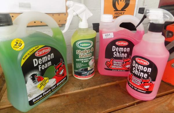 4 New bottles of car cleaning products