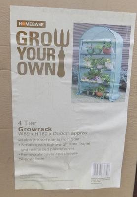 Homebase Grow Your Own, 4 tier Growrack