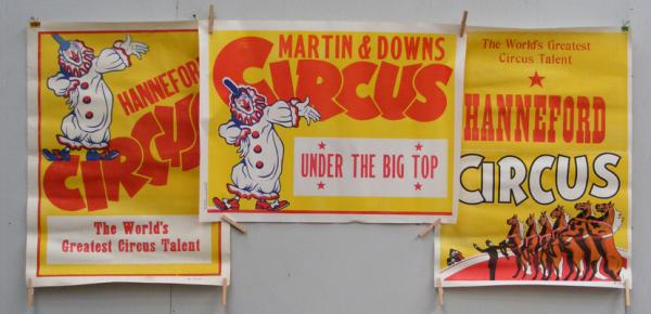 Selection of three original circus posters
