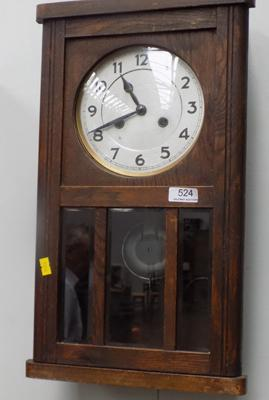 Antique wall hanging clock