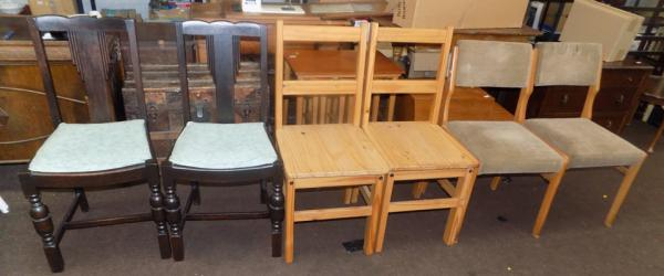 3 Pairs of dining chairs