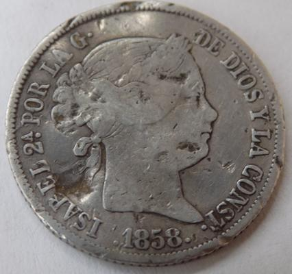 1858 Spain 4 Reales (rare date)