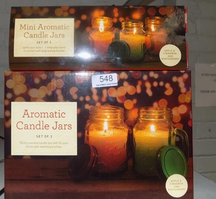 2 New sets of aromatic candles