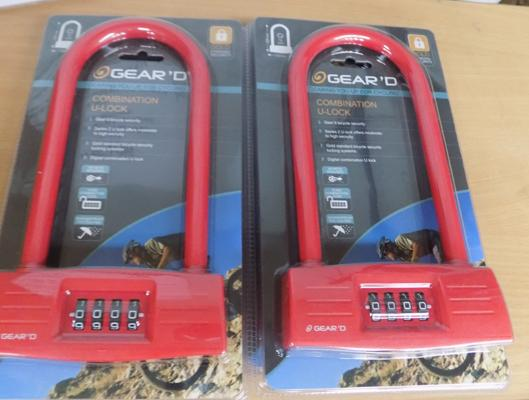 4 New combination D locks-gold rated security
