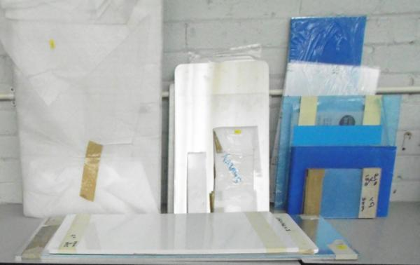 Quantity of aluminium/stainless steel & acrylic sign panels