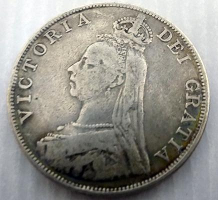 1889 four Shilling coin