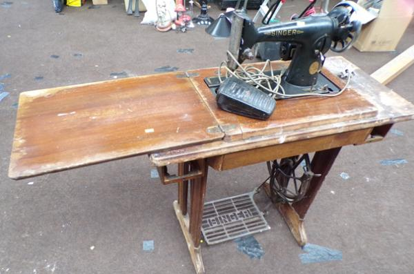 Singer sewing machine on stand
