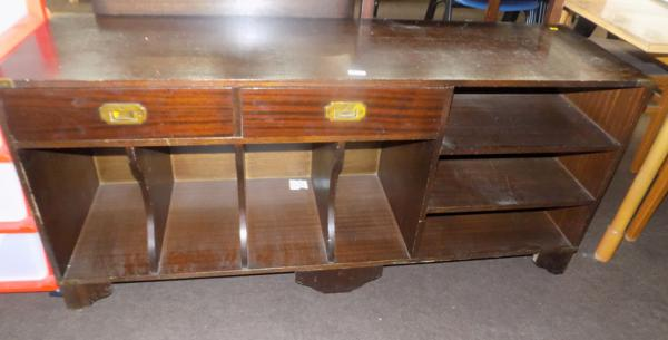 Campaign style low sideboard