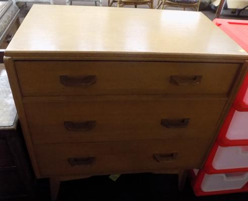 G plan 3 drawer chest of drawers